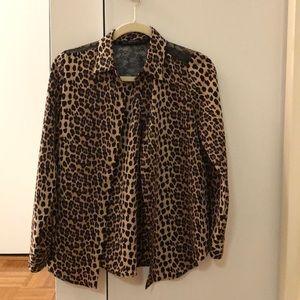 Zara cheetah button down top. Size small